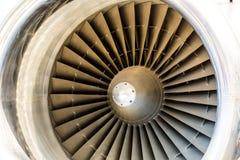 Крупный план лезвий реактивного двигателя Стоковое фото RF