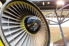 Крупный план лезвий реактивного двигателя Стоковое Изображение RF