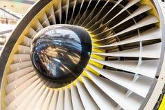 Крупный план лезвий реактивного двигателя Стоковая Фотография RF