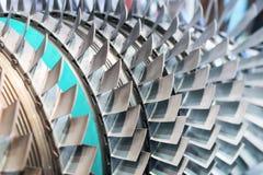 Крупный план лезвий турбины поле глубины отмелое Стоковое фото RF