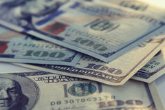 Крупный план денег Американец 100 долларов Стоковое фото RF