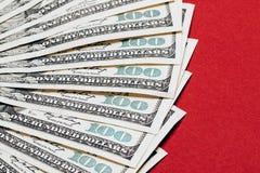 Крупный план денег Стоковые Фото
