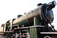 Крупный план детали локомотива пара выпуская пар Винтажный поезд Стоковая Фотография