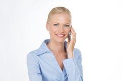 Крупный план женщины smiley Стоковые Фото