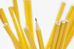 Крупный план желтых карандашей Стоковая Фотография RF
