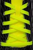 Крупный план желтых шнурков Стоковое Изображение