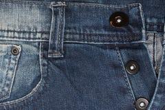 Крупный план джинсовой ткани: предпосылка текстуры голубых джинсов Стоковые Изображения