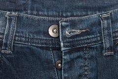 Крупный план джинсовой ткани: предпосылка текстуры голубых джинсов Стоковое Фото