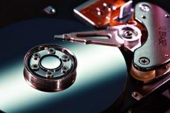 Крупный план жёсткого диска Стоковая Фотография