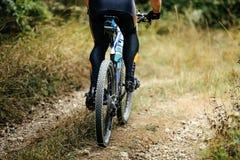 Крупный план заднего колеса резвится гора Стоковое Фото