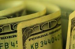 Крупный план изображения макроса банкноты долларов США Стоковое Изображение RF