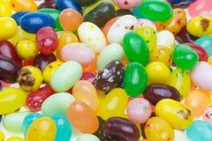 Крупный план изображенный желейных бобов Стоковая Фотография