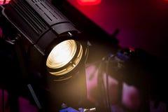 Крупный план источника света этапа Стоковые Фотографии RF