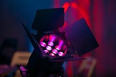 Крупный план источника света этапа Стоковые Изображения RF