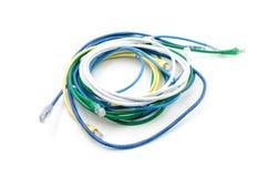 Крупный план кабеля сети с jack Стоковое Изображение RF