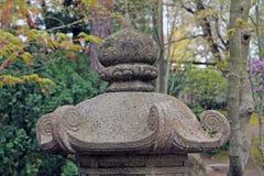 Крупный план каменной пагоды японского фонарика Стоковое Фото