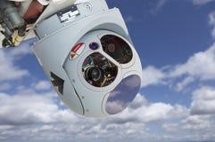 Крупный план камеры трутня и модуля стручка датчика Стоковое фото RF