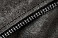 Крупный план кожаной текстуры с частями металла Стоковая Фотография