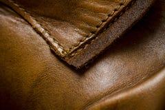 Крупный план кожаной текстуры Стоковые Фотографии RF