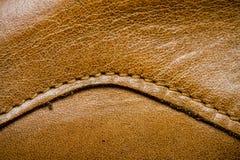 Крупный план кожаной текстуры Стоковые Изображения RF