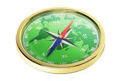 Крупный план компаса, перевод 3d Стоковое Фото