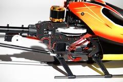 Крупный план контролируемых радио частей вертолета Стоковое Фото