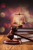 Крупный план концепции закона Стоковые Изображения RF