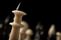 Крупный план короля шахмат Стоковые Фото