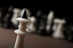 Крупный план короля шахмат Стоковые Изображения RF