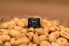 Лежа на куче арахисов стоковые фото