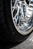 Крупный план колеса автомобиля Стоковые Фото