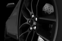 Крупный план колеса сплава Стоковые Фото