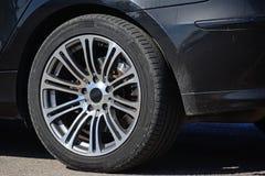 Крупный план колеса сплава Стоковое Изображение RF