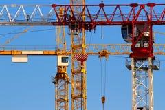 Крупный план кранов башни Стоковая Фотография
