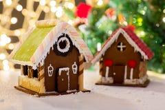 Крупный план красивого дома пряника дома Стоковое Изображение RF