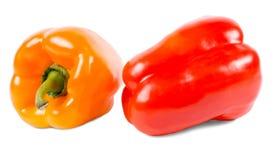 Красные и померанцовые перцы сладостного колокола стоковые фотографии rf