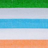 Крупный план красочной striped ткани как предпосылка или текстура стоковые изображения