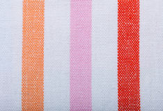 Крупный план красочной striped ткани как предпосылка или текстура стоковые фотографии rf