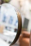 Крупный план круглого зеркала Стоковое фото RF
