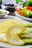 Крупный план кусков лимона Стоковое Изображение RF