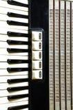 Крупный план клавиатуры аккордеона стоковые фотографии rf