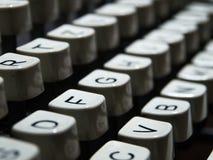 Крупный план клавиатуры машинки год сбора винограда Стоковое Фото