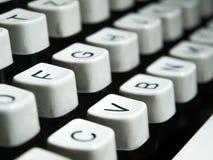 Крупный план клавиатуры машинки год сбора винограда Стоковое Изображение