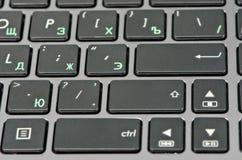 Крупный план клавиатуры Стоковое Изображение RF