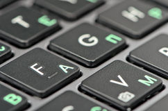 Крупный план клавиатуры Стоковое фото RF