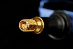 Крупный план клапана автошины Стоковая Фотография RF