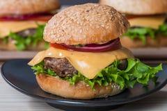 Крупный план классического бургера Стоковые Изображения RF