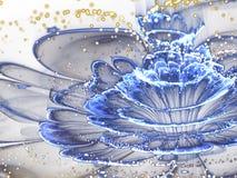 Крупный план макроса цветка фрактали с цветнем Стоковые Изображения