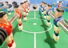 Крупный план машины футбольной игры футбола Стоковое фото RF
