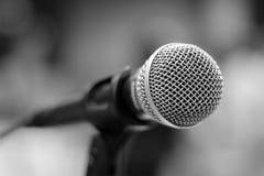 Крупный план микрофона стоковые фотографии rf